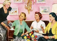 From the bygone times when women were only expected to look polished and take care of the home.