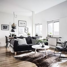 Here we showcase a a collection of perfectly minimal interior design examples for you to use as inspiration. Check out the previous post in the series: 37 My Living Room, Living Room Decor, Living Spaces, Decor Room, Home Decor, Interior Design Examples, Home Interior Design, Design Ideas, Small Apartments