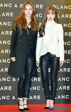 f(x)'s Krystal captures the attention of the press as she attends the exclusive launch of Jessica Jung's collaboration with KOON for BLANC & ECLARE. Jessica & Krystal, Jessica Jung, Snsd Fashion, Korean Fashion, Blanc And Eclare, Krystal Jung Fashion, Confident Woman, Asia Girl, Girl Day