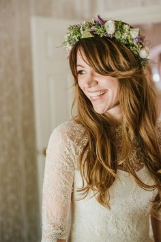 10 divine flower crown designs | Whether you're going faux floral or beautiful blooms, here are 10 flower crown ideas for brides looking for the finishing touch
