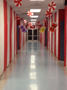 office decoration idea workplace peppermint forest candylan love this idea of duck tape on the floor as train tracks for polar