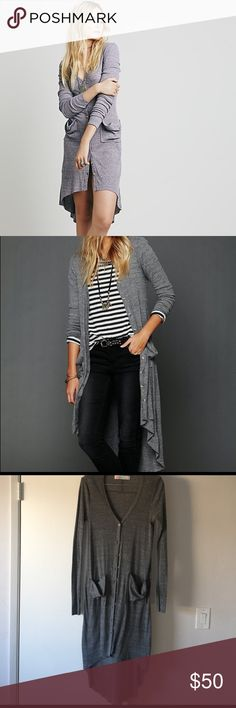 FP Beach Ribbed Maxi Cardigan In like new condition, no flaws.  The most versatile cardigan ever. Wear it as a dress or pair it with a Maxi dress, shorts, or jeans. True color in last picture. Free People Dresses