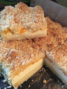 Streuselkuchen mit Mandarinen und Schmand 25 Crumble cake with tangerines and sour cream 25 Pudding Desserts, No Bake Desserts, Easy Desserts, Dessert Recipes, Cookie Desserts, Food Cakes, Cupcake Cakes, Dessert Bars, Torte Au Chocolat
