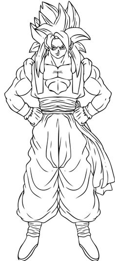Dragon Ball Z Trunks Coloring Pages Coloring Coloring Pages