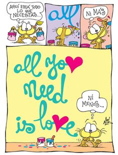 Love is all you need ♡ Cartoon Movies, Love Notes, All You Need Is Love, Happy Birthday, Positivity, Letters, Humor, Comics, Words