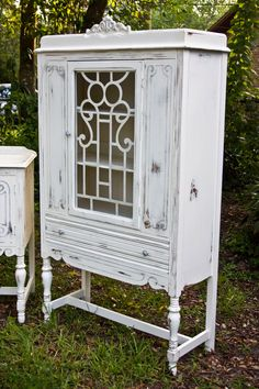 I LOVE the idea of a china cabinet as a dresser in a bedroom!!  Add some baskets to conceal your clothes!  Gorgeous!