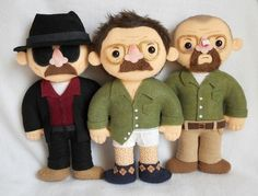 Article-From Buzz Feed. 25 Breaking Bad Crafts. Hoot. Walter White Plushie Dolls | 21 Awesome Breaking BadCrafts
