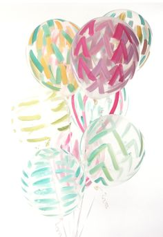 Early Spring '14 style from ShopRiffraff.com! Painted Balloons!