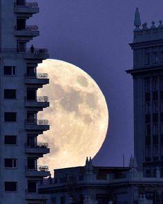Sky Moon, Stars And Moon, Night Aesthetic, Blue Aesthetic, The Moon Is Beautiful, Pretty Sky, Dark Paradise, Photocollage, Night Skies