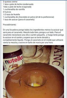 Flan de Nutella