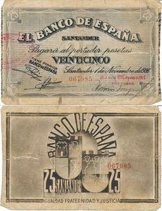 25 p, Santander 1936