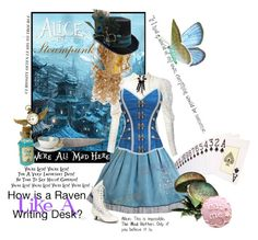 """Alice in Steampunk"" by clairekaiba ❤ liked on Polyvore featuring Disney, Bernardaud, women's clothing, women, female, woman, misses and juniors"