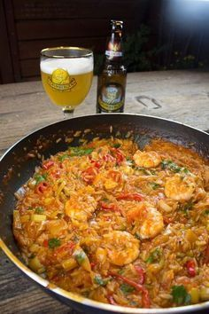 κριθαρότο με γαρίδες Greek Cooking, Yams, Rice Dishes, Greek Recipes, Fish And Seafood, Paella, Food Styling, Curry, Food And Drink