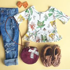 This outfit will be on repeat! Find our Herbal Peplum at vivieandash.com!