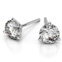 The slim, stylish design of the Martini Three Prong Diamond stud setting earrings in White Gold exudes class like no other, making these sparkling babies a definite style staple in every woman's style arsenal!  http://www.brilliance.com/earrings/martini-three-prong-earring-settings-white-gold