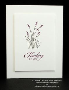 Stamp & Create With Sabrina: Wetlands Card Class Part 2 Making Greeting Cards, Greeting Cards Handmade, With Sympathy Cards, Stamping Up Cards, Get Well Cards, Masculine Cards, Flower Cards, Diy Cards, Quick Cards