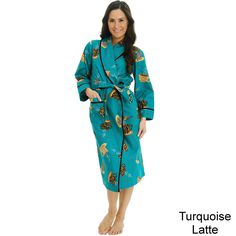 Del Rossa Women's Classic Flannel Bath Robe - Overstock™ Shopping - Top Rated Alexander Del Rossa Pajamas & Robes $30
