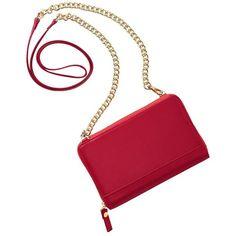TravelSmith RFID-Blocking Crossbody Purse (65 CAD) ❤ liked on Polyvore featuring bags, handbags, shoulder bags, purses, bolsas, bolsos, red, leather hand bags, leather crossbody purse and leather shoulder bag