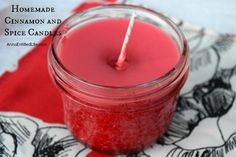 Homemade Cinnamon and Spice Candles; Easily and inexpensively make your own Homemade Cinnamon and Spice Candles! Great for gifts, stocking stuffers, or to scent your own home during the holiday season. These Homemade Cinnamon and Spice Candles are a fun DIY project that yields great results!