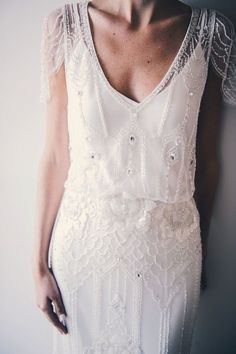 22 Casual wedding dresses for summer---boho chic cap sleeve wedding dress with beadings and embroideries Gatsby Wedding, Mod Wedding, Wedding Gowns, Dream Wedding, Rustic Wedding, Wedding Ceremony, Summer Wedding, Renewal Wedding, Tulle Wedding