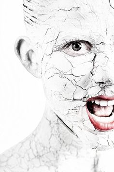 Photograph Clay on face in crack by Dmitry Shishkin on 500px