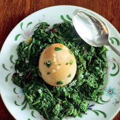 Huevos Haminados con Spinaci (Long-Cooked Hard-Boiled Eggs with Spinach) Recipe on Food52 recipe on Food52