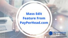 PayPerHead Premium Platform New Feature - Mass Edits http://snip.ly/12nl1   #payperhead #bets #gambling #bettingtips