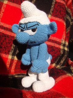Amigurumi Smurfs and Images Free Crochet, Knit Crochet, Crochet Dragon, Amigurumi Tutorial, Amigurumi Toys, Crochet Animals, Crochet Dolls, Crochet Projects, Smurfs