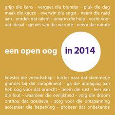 Nieuwjaarskaarten - een open oog in 2014