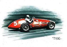 1953 Ferrari 500 F2 by Artem Oleynik