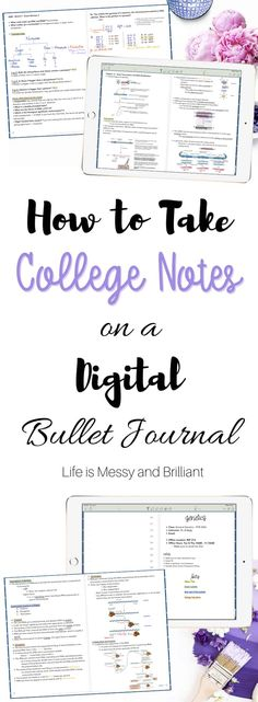 How to Use Notability, How to Take College Notes, How to Digital Bullet Journal, Digital Planner College Notes, College Hacks, Digital Bullet Journal, Note Taking Tips, One Note Tips, School Planner, College Planner, Weekly Planner, Good Notes