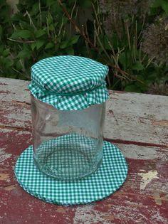 Backformen - Marmeladendeckel aus Karostoff  10 Stück d.grün - ein Designerstück von Baumstoffe bei DaWanda