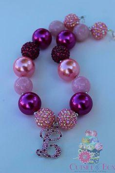 Girls Chunky Necklace  Custom RHINESTONE by CreateOutsidetheBox, $30.00