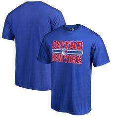 New York Rangers Fanatics Branded Big & Tall Hometown Collection Defend T-Shirt - Blue