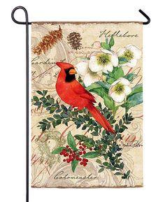 Evergreen Holiday Birds Garden Flag 14s3175fb NEW Christmas 2 diff sides