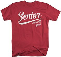 Let everyone know you're graduating in the class of 2016 with this custom senior class t-shirt. The shirt reads senior class of 2016.. A great gift for the graduate! Our cotton t-shirts are machine wa