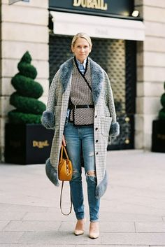 Scarf + Belt:  Belting a heavy stole is not only an unexpected and fresh outfit idea, it's surprisingly flattering, too.
