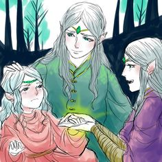Elwing, Elurín and Elúred, the twins never had the chance to grow up though