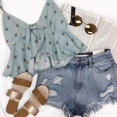 Women S Fashion Worldwide Shipping Product Cute Summer Outfits, Outfits For Teens, Spring Outfits, Trendy Outfits, Cool Outfits, Teen Fashion, Korean Fashion, Fashion Outfits, Fashion Top