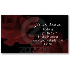 Dark Red Rose Business Card