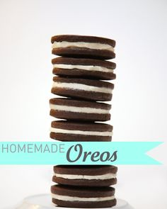 Homemade Oreos- I will be trying this.