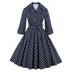 SHARE & Get it FREE | Retro Polka Dot Print 3/4 Sleeve Flare Dress With BeltFor Fashion Lovers only:80,000+ Items·FREE SHIPPING Join Dresslily: Get YOUR $50 NOW!
