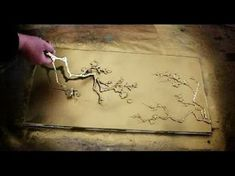How to make TREE BLOSSOM STENCILS out of HOT GLUE - YouTube