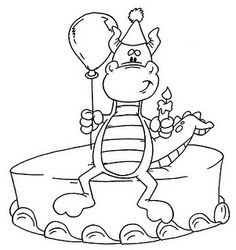 dino cake image Birthday Coloring Pages, Coloring Pages For Boys, Coloring Book Pages, Boy Coloring, Digital Stamps Free, Kids Stamps, Birthday Cards For Boys, Pattern Pictures, Love Drawings