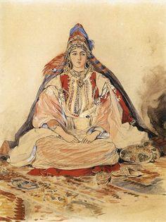 DELACROIX, Eugène French Romantic (1798-1863)_Jewish Bride 1832