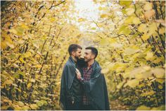 Same sex autumn engagement session under the leaves  Joelsview Photography