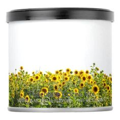 Sunflowers in a Field Hot Chocolate Drink Mix - summer gifts season diy template ideas