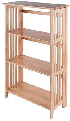 Wood Shelving Units, Wood Shelves, Basement Furniture, Furniture Decor, Indoor Bike Storage, Standing Shelves, Winsome Wood, Curtain Rod Brackets, Wine Table