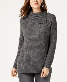 a5a09840cb73 .Style  amp  Co Snap Cowl-Neck Sweater