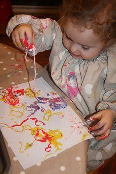 Spaghetti painting